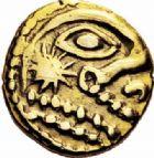Photo numismatique  ARCHIVES VENTE 2016-19 oct IBERIE- GAULE - CELTES OUEST DU BELGIUM - BELLOVAQUES  336- Quart de statère d'or.