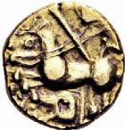 Photo numismatique  ARCHIVES VENTE 2016-19 oct GAULE - CELTES OUEST DU BELGIUM  337- Quart de statère d'or, (IIème siècle avant J.C.).
