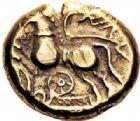 Photo numismatique  ARCHIVES VENTE 2016-19 oct GAULE - CELTES SUESSIONES (région de Soissons)  339- Statère d'or au nom de Criciru, (vers 60-30/25).