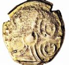Photo numismatique  ARCHIVES VENTE 2016-19 oct GAULE - CELTES SUESSIONES (région de Soissons)  340- Statère d'or au nom de Criciru.