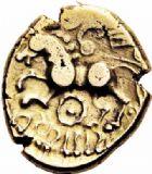 Photo numismatique  ARCHIVES VENTE 2016-19 oct IBERIE- GAULE - CELTES SUESSIONES (région de Soissons)  340- Statère d'or au nom de Criciru.