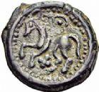 Photo numismatique  ARCHIVES VENTE 2016-19 oct GAULE - CELTES SUESSIONES (région de Soissons)  344- Potin, (fin du IIème s.-Guerre des Gaule).