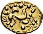 Photo numismatique  ARCHIVES VENTE 2016-19 oct GAULE - CELTES AMBIANI (Bassin de la Somme)  348- Statère d'or, (fin du IIème siècle-Guerre des Gaule).