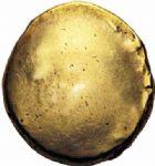 Photo numismatique  ARCHIVES VENTE 2016-19 oct IBERIE- GAULE - CELTES AMBIANI (Bassin de la Somme)  349- Statère d'or uniface, (e 60 à 30/25 avant J.C.).