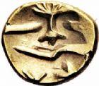 Photo numismatique  ARCHIVES VENTE 2016-19 oct GAULE - CELTES AMBIANI (Bassin de la Somme)  350- Quart de statère d'or à l'arbre et à la ligne brisée.