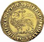 Photo numismatique  ARCHIVES VENTE 2016-19 oct ROYALES FRANCAISES PHILIPPE IV LE BEL (5 octobre 1285-30 novembre 1314)  357- Agnel d'or (26 janvier 1311). 357- Agnel d'or (26 janvier 1311).