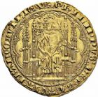 Photo numismatique  ARCHIVES VENTE 2016-19 oct ROYALES FRANCAISES PHILIPPE VI DE VALOIS(1er avril 1328-22 août 1350)  364- Chaise d'or (17 juillet 1346).