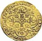 Photo numismatique  ARCHIVES VENTE 2016-19 oct ROYALES FRANCAISES JEAN II LE BON (22 août 1350-18 avril 1364)  366- Mouton d'or (17 janvier 1355).