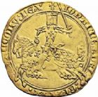 Photo numismatique  ARCHIVES VENTE 2016-19 oct ROYALES FRANCAISES JEAN II LE BON (22 août 1350-18 avril 1364)  368- Franc d'or à cheval (5 décembre 1360).