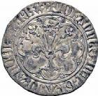 Photo numismatique  ARCHIVES VENTE 2016-19 oct ROYALES FRANCAISES JEAN II LE BON (22 août 1350-18 avril 1364)  370- Gros à la fleur de lis dit « Patte d'oie », 1ère émission (22 janvier 1358).