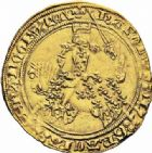 Photo numismatique  ARCHIVES VENTE 2016-19 oct ROYALES FRANCAISES CHARLES V (8 avril 1364-16 septembre 1380)  372- Franc d'or à cheval (3 septembre 1364). 