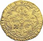 Photo numismatique  ARCHIVES VENTE 2016-19 oct ROYALES FRANCAISES CHARLES V (8 avril 1364-16 septembre 1380)  373- Franc d'or à pied (20 avril 1365).