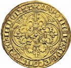 Photo numismatique  ARCHIVES VENTE 2016-19 oct ROYALES FRANCAISES CHARLES VI (16 septembre 1380-21 octobre 1422)  375- Ecu d'or, 5ème émission (2 novembre 1411), Paris.