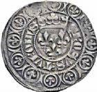 Photo numismatique  ARCHIVES VENTE 2016-19 oct ROYALES FRANCAISES CHARLES VI (16 septembre 1380-21 octobre 1422)  378- Gros aux lis sous une couronne (3 novembre 1413), Tournai.