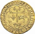Photo numismatique  ARCHIVES VENTE 2016-19 oct ROYALES FRANCAISES HENRI VI, roi de France et d'Angleterre (31 octobre 1422–19 octobre 1453)  379- Salut d'or de la 2ème émission (6 septembre 1423), Paris.