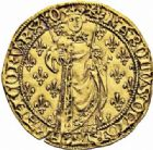 Photo numismatique  ARCHIVES VENTE 2016-19 oct ROYALES FRANCAISES CHARLES VII (30 octobre 1422-22 juillet 1461)  381- Royal d'or de la 1ère émission (9 octobre 1429), Orléans.