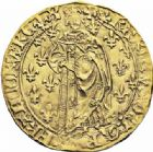 Photo numismatique  ARCHIVES VENTE 2016-19 oct ROYALES FRANCAISES CHARLES VII (30 octobre 1422-22 juillet 1461)  382- Royal d'or de la 2ème émission (5 avril 1431), Limoges.