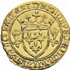 Photo numismatique  ARCHIVES VENTE 2016-19 oct ROYALES FRANCAISES CHARLES VII (30 octobre 1422-22 juillet 1461)  383- Ecu d'or à la couronne dit « écu neuf », 2ème émission (12 août 1445), Tours.