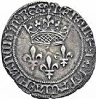 Photo numismatique  ARCHIVES VENTE 2016-19 oct ROYALES FRANCAISES CHARLES VII (30 octobre 1422-22 juillet 1461)  384- Gros de roi, 1ère émission (26 mai 1447), Montpellier.