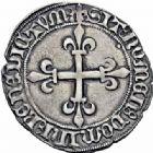 Photo numismatique  ARCHIVES VENTE 2016-19 oct ROYALES FRANCAISES CHARLES VII (30 octobre 1422-22 juillet 1461)  384- Gros de roi, 1ère émission (26 mai 1447), Montpellier.