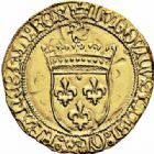 Photo numismatique  ARCHIVES VENTE 2016-19 oct ROYALES FRANCAISES LOUIS XI (22 juillet 1461-30 août 1483)  386- Ecu d'or au soleil (2 novembre 1475), Toulouse.