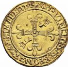 Photo numismatique  ARCHIVES VENTE 2016-19 oct ROYALES FRANCAISES FRANCOIS I (1er janvier 1515–31 mars 1547)  391- Ecu d'or au soleil, 2ème type, 1ère émission (23 janvier 1515), Lyon.