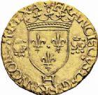 Photo numismatique  ARCHIVES VENTE 2016-19 oct ROYALES FRANCAISES FRANCOIS I (1er janvier 1515–31 mars 1547)  393- Ecu d'or aux salamandres non couronnées, 2ème type, frappé à La Rochelle (du 24 avril au 10 novembre 1540).