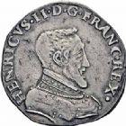 Photo numismatique  ARCHIVES VENTE 2016-19 oct ROYALES FRANCAISES HENRI II (31 mars 1547-10 juillet 1559)  399- Teston, 2ème type, Lyon 1553.