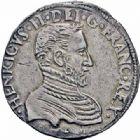 Photo numismatique  ARCHIVES VENTE 2016-19 oct ROYALES FRANCAISES FRANCOIS II (10 juillet 1559-5 décembre 1560) Monnayage au type de Henri II 400- Teston du Dauphiné, Grenoble 1560.
