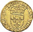 Photo numismatique  ARCHIVES VENTE 2016-19 oct ROYALES FRANCAISES CHARLES IX (5 décembre 1560-30 mai 1574) Monnayage au nom de Charles IX 403- Ecu d'or au soleil, Bordeaux 1564.