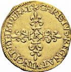 Photo numismatique  ARCHIVES VENTE 2016-19 oct ROYALES FRANCAISES CHARLES IX (5 décembre 1560-30 mai 1574) Monnayage au nom de Charles IX 403- Ecu d'or au soleil, Bordeaux 1564.