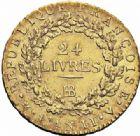 Photo numismatique  ARCHIVES VENTE 2016-19 oct MODERNES FRANÇAISES LA CONVENTION (22 septembre 1792 - 26 octobre 1795)   497- Louis d'or de 24 livres, Strasbourg 1793 an II.