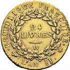 Photo numismatique  ARCHIVES VENTE 2016-19 oct MODERNES FRANÇAISES LA CONVENTION (22 septembre 1792 - 26 octobre 1795)  498- Louis d'or de 24 livres, Lille 1793 an II.