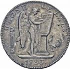 Photo numismatique  ARCHIVES VENTE 2016-19 oct MODERNES FRANÇAISES LA CONVENTION (22 septembre 1792 - 26 octobre 1795)  499- Ecu de six livres, Paris 1793 an II, second semestre.