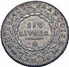Photo numismatique  ARCHIVES VENTE 2016-19 oct MODERNES FRANÇAISES LA CONVENTION (22 septembre 1792 - 26 octobre 1795)  499- Ecu de six livres, Paris 1793 an II, second semestre.