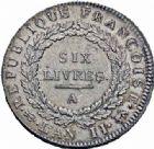 Photo numismatique  ARCHIVES VENTE 2016-19 oct MODERNES FRANÇAISES LA CONVENTION (22 septembre 1792 - 26 octobre 1795)  500 - Ecu de six livres, Paris 1793 an II.