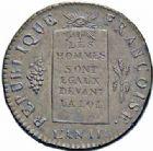 Photo numismatique  ARCHIVES VENTE 2016-19 oct MODERNES FRANÇAISES LA CONVENTION (22 septembre 1792 - 26 octobre 1795)  504- 1/2 sol, La Rochelle 1793, an II.