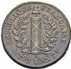 Photo numismatique  ARCHIVES VENTE 2016-19 oct MODERNES FRANÇAISES LA CONVENTION (22 septembre 1792 - 26 octobre 1795) SIÈGE DE MAYENCE. (31 mars au 23 juillet 1793) 507- 5 Sol 1793 an 2.