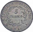 Photo numismatique  ARCHIVES VENTE 2016-19 oct MODERNES FRANÇAISES LE CONSULAT (à partir du 24 décembre 1799-18 mai 1804)  510- 5 francs, Paris an XI.