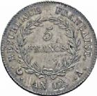 Photo numismatique  ARCHIVES VENTE 2016-19 oct MODERNES FRANÇAISES LE CONSULAT (à partir du 24 décembre 1799-18 mai 1804)  511- 5 francs, Paris an 12.
