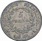Photo numismatique  ARCHIVES VENTE 2016-19 oct MODERNES FRANÇAISES LE CONSULAT (à partir du 24 décembre 1799-18 mai 1804)  511- 5 francs, Paris an 12.