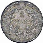 Photo numismatique  ARCHIVES VENTE 2016-19 oct MODERNES FRANÇAISES LE CONSULAT (à partir du 24 décembre 1799-18 mai 1804)  512- 1 franc, Paris an XI.
