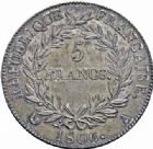 Photo numismatique  ARCHIVES VENTE 2016-19 oct MODERNES FRANÇAISES NAPOLEON Ier, empereur (18 mai 1804- 6 avril 1814)  514- 5 francs, Paris 1806.