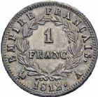 Photo numismatique  ARCHIVES VENTE 2016-19 oct MODERNES FRANÇAISES NAPOLEON Ier, empereur (18 mai 1804- 6 avril 1814)  520- 1 franc, Paris 1812.