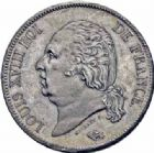 Photo numismatique  ARCHIVES VENTE 2016-19 oct MODERNES FRANÇAISES LOUIS XVIII, 2e restauration (8 juillet 1815-16 septembre 1824)  529- 5 francs, Paris 1816.