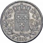 Photo numismatique  ARCHIVES VENTE 2016-19 oct MODERNES FRANÇAISES LOUIS XVIII, 2e restauration (8 juillet 1815-16 septembre 1824)  529- 5 francs, Paris 1816.