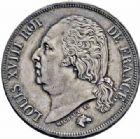Photo numismatique  ARCHIVES VENTE 2016-19 oct MODERNES FRANÇAISES LOUIS XVIII, 2e restauration (8 juillet 1815-16 septembre 1824)  530- 2 francs, Paris 1818.