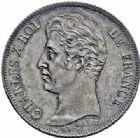 Photo numismatique  ARCHIVES VENTE 2016-19 oct MODERNES FRANÇAISES CHARLES X (16 septembre 1824-2 août 1830)  533- 1 franc tranche striée, Paris 1830.