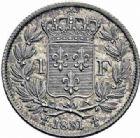 Photo numismatique  ARCHIVES VENTE 2016-19 oct MODERNES FRANÇAISES HENRI V, prétendant (29 septembre 1820-1883)  534- 1 franc, 1831.