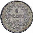 Photo numismatique  ARCHIVES VENTE 2016-19 oct MODERNES FRANÇAISES LOUIS-PHILIPPE Ier (9 août 1830-24 février 1848)  539- 1 franc, Rouen 1846.